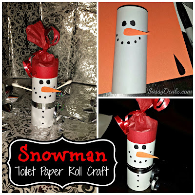snowman toilet paper roll craft