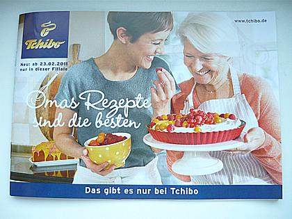 Foto einer Tchibo-Broschüre - Omas Rezepte sind die besten -