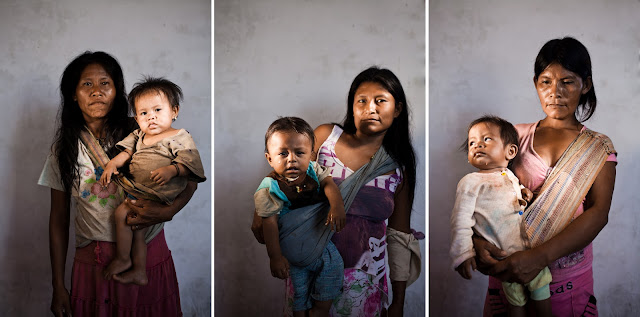 The three madonnas by Marlon Krieger and Annalisa Iadicicco, pboto of Ashanika women in Peru