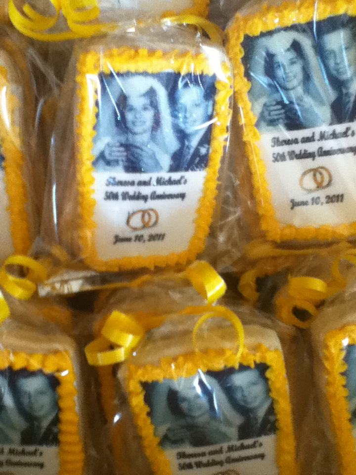 Labels anniversary photo cookies