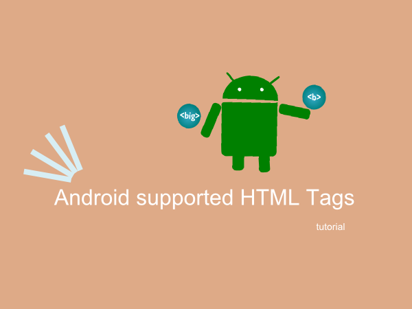 Android supported HTML Tags