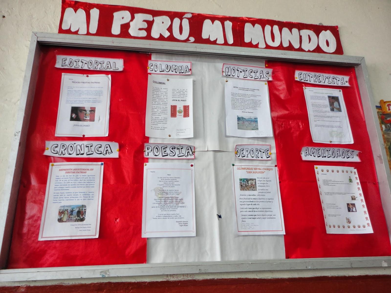 Nuestros peri dicos murales y paneles fiestas patrias for Diario mural fiestas patrias chile