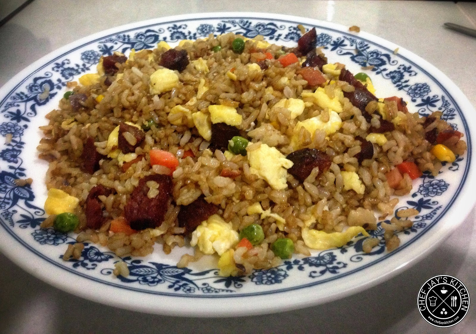 Chinese-Style Brown Sausage Fried Rice Recipe