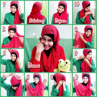 Hijab Tutorial Pashmina Sifon Simple Terbaru 2014 by Navitarina