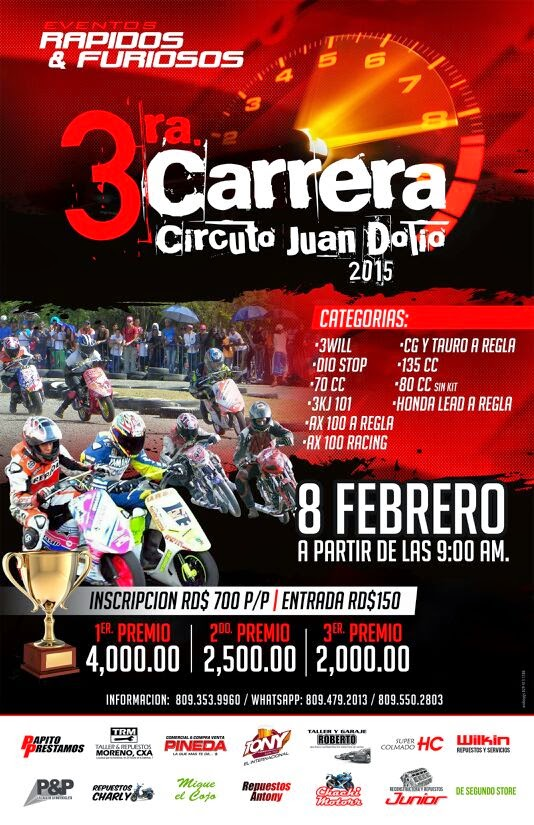 3ra. Carrera Circuito Juan Dolio 2015