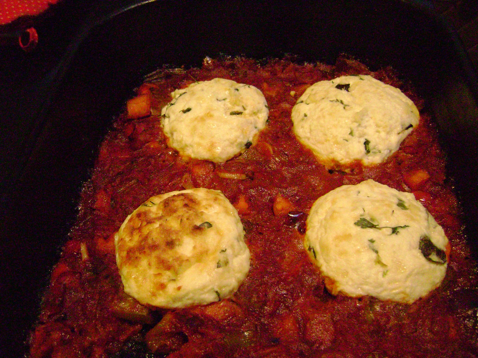 Cat and Cook: Ricotta dumplings baked in tomato sauce