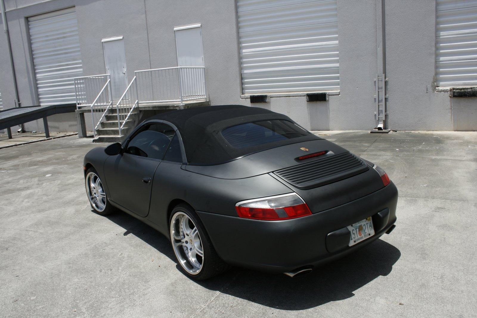 Coconut Grove Porsche 911 Carrera Matte Black Car Wrap By 3m