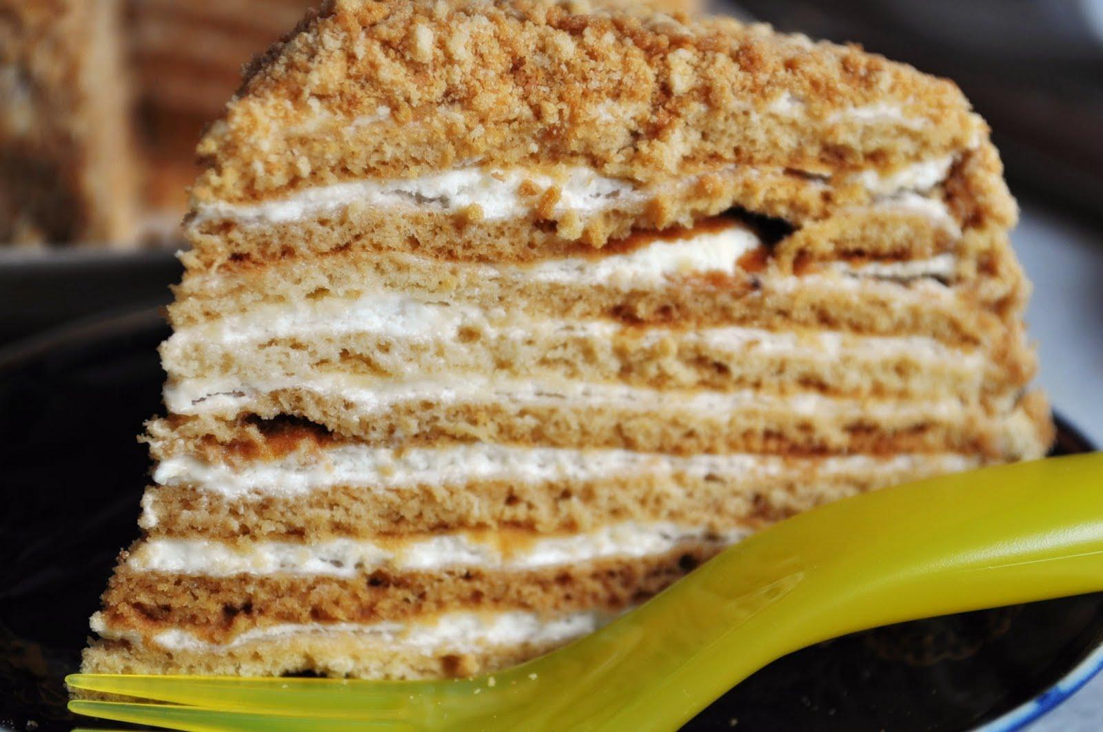Торт медовый с молоком пошаговый рецепт