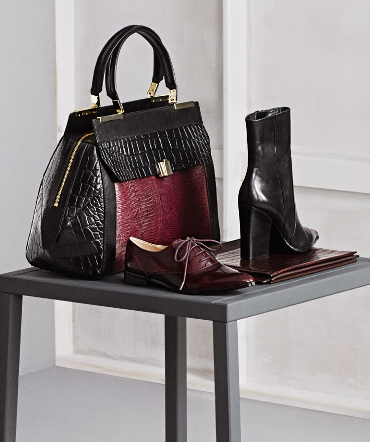 MARKS AND SPENCER AUTOGRAPH BAG £149, AUTOGRAPH BAG £79, AUTOGRAPH SHOE £55, AUTOGRAPH BOOT £85