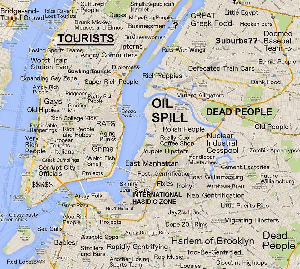 Hella Heaven New York Judgmental Map By Curbed