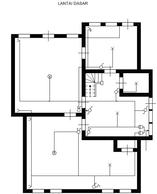 gambar denah rumah dua lantai