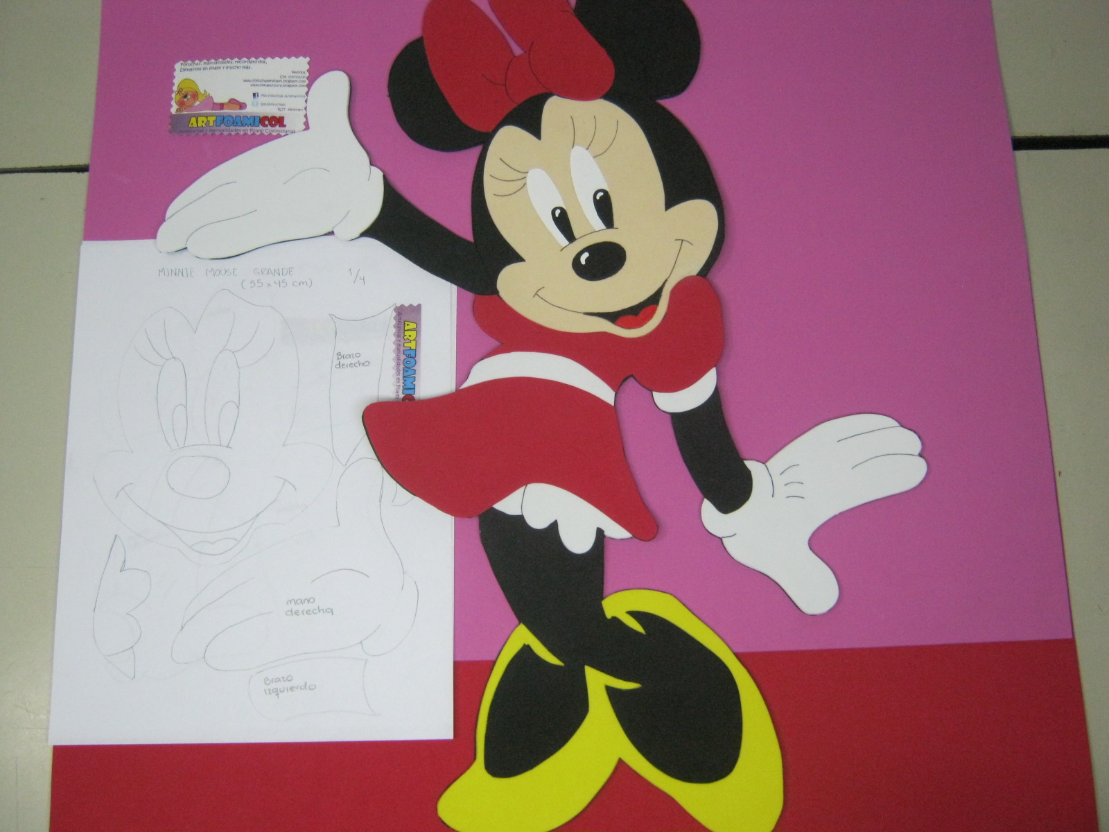 Image gallery moldes para fomi gratis - Manualidades minnie mouse ...