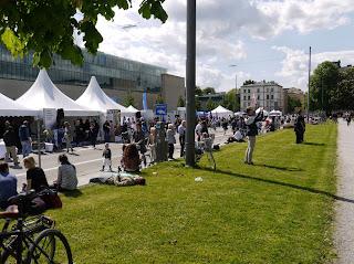 Kunstareal-Fest München 2015 - Gabelsbergerstraße vor dem Ägyptischen Museum