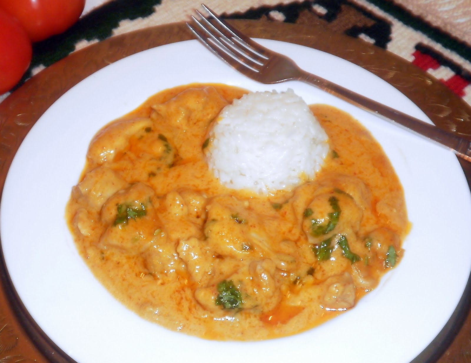 Around the World - in favorite recipes: Chicken Peanut Butter Curry