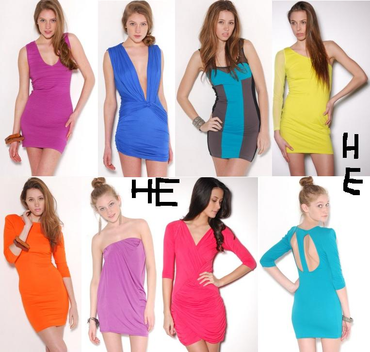 dresses styles trends bright colored