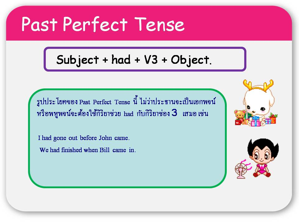 how to teach past perfect tense
