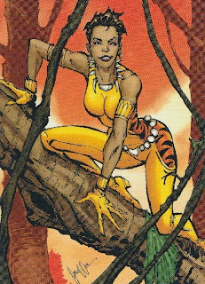 Front of New 52 DC Comics trading card #58 Vixen