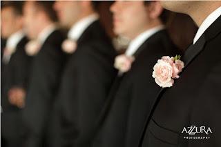 Flora Nova Design, blush pink wedding flowers, pink boutonnieres