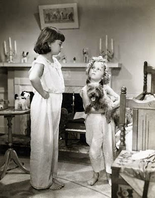 Jane Withers and Shirley Temple with Terry in Bright Eyes (1934)