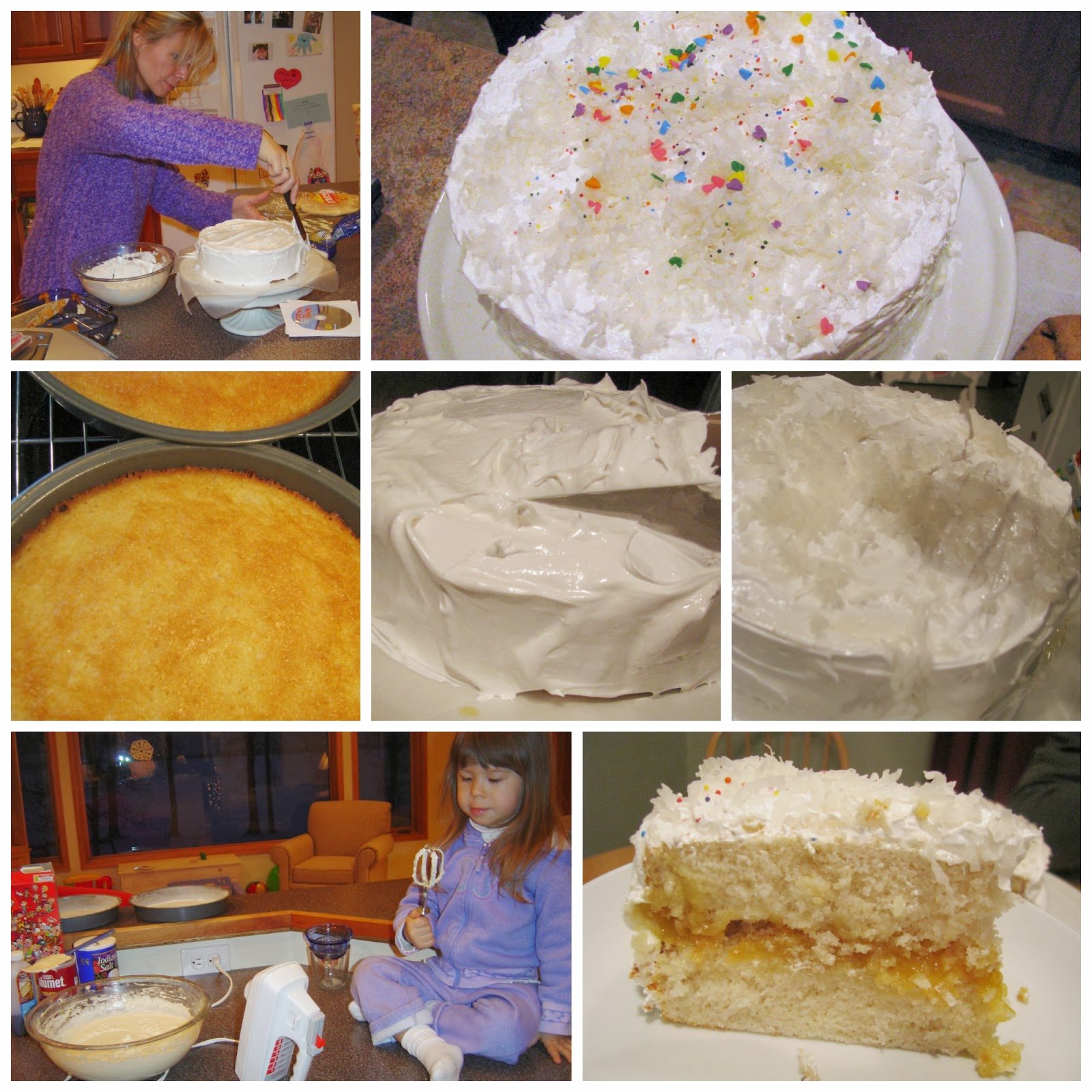 Here Taste This Silver White Cake With White Mountain Frosting