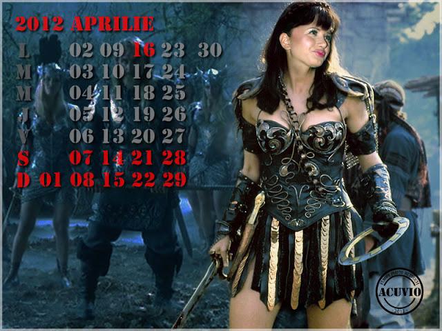 Sexiest calendar Elena Băsescu Warrior Princess funny photo