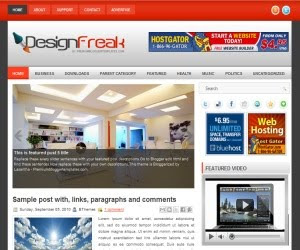 Design Freak Blogger Template