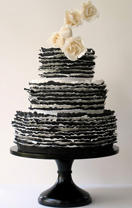 Wedding Cakes Black And White
