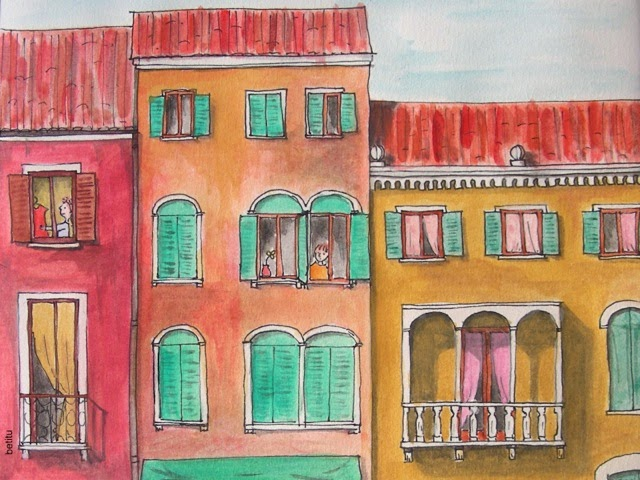watercolor detail by betitu