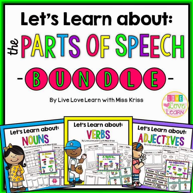 https://www.teacherspayteachers.com/Product/Lets-Learn-About-The-Parts-of-Speech-1713117