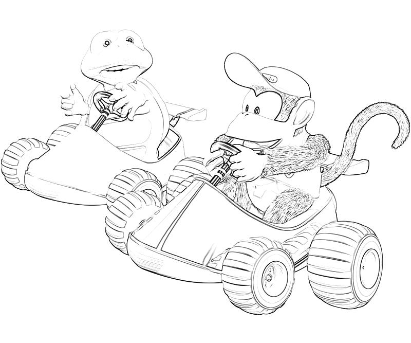 Donkey kong country returns diddy kong racing mario for Diddy kong coloring pages