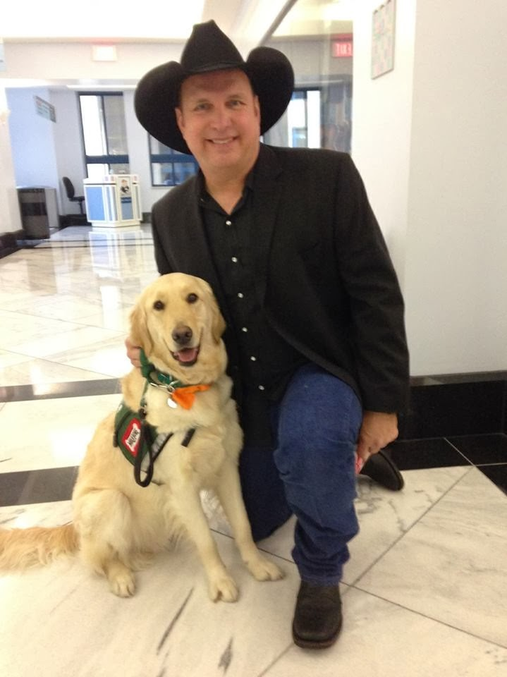 Photo of Garth Brooks & his  Dog Chanel