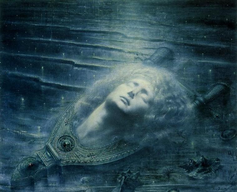 Orphee Mort by Jean Delville, 1893.