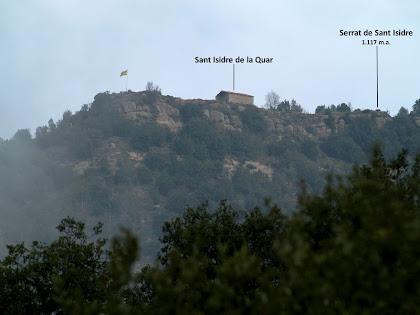 El serrat i ermita de Sant Isidre de La Quar