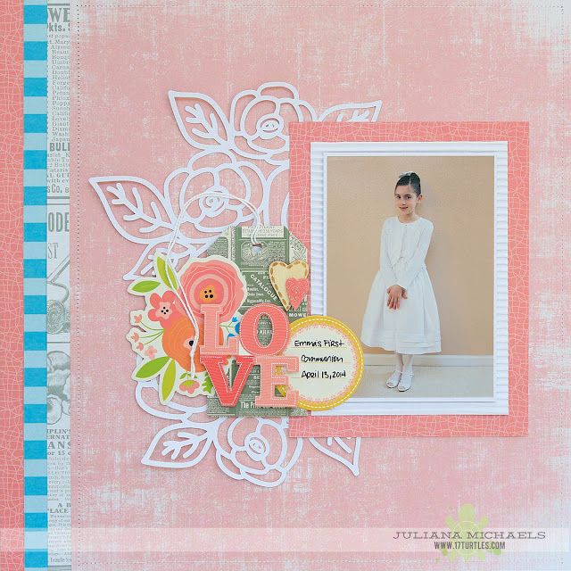 Love First Communion Scrapbook Page by Juliana Michaels