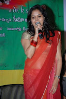 Singer Sunitha transparent saree images
