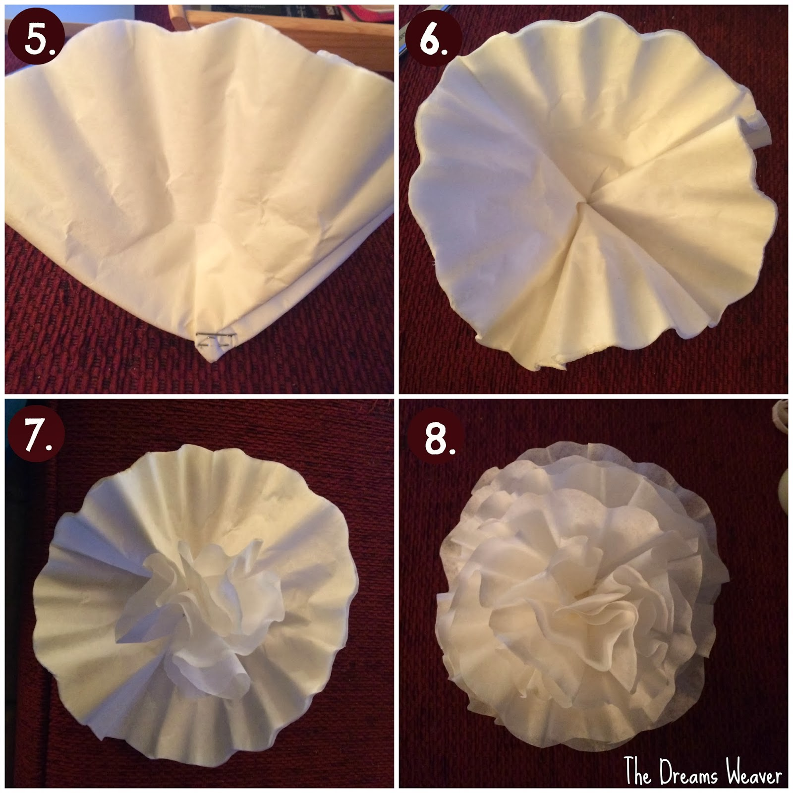 The dreams weaver coffee filter flowers for Coffee crafts