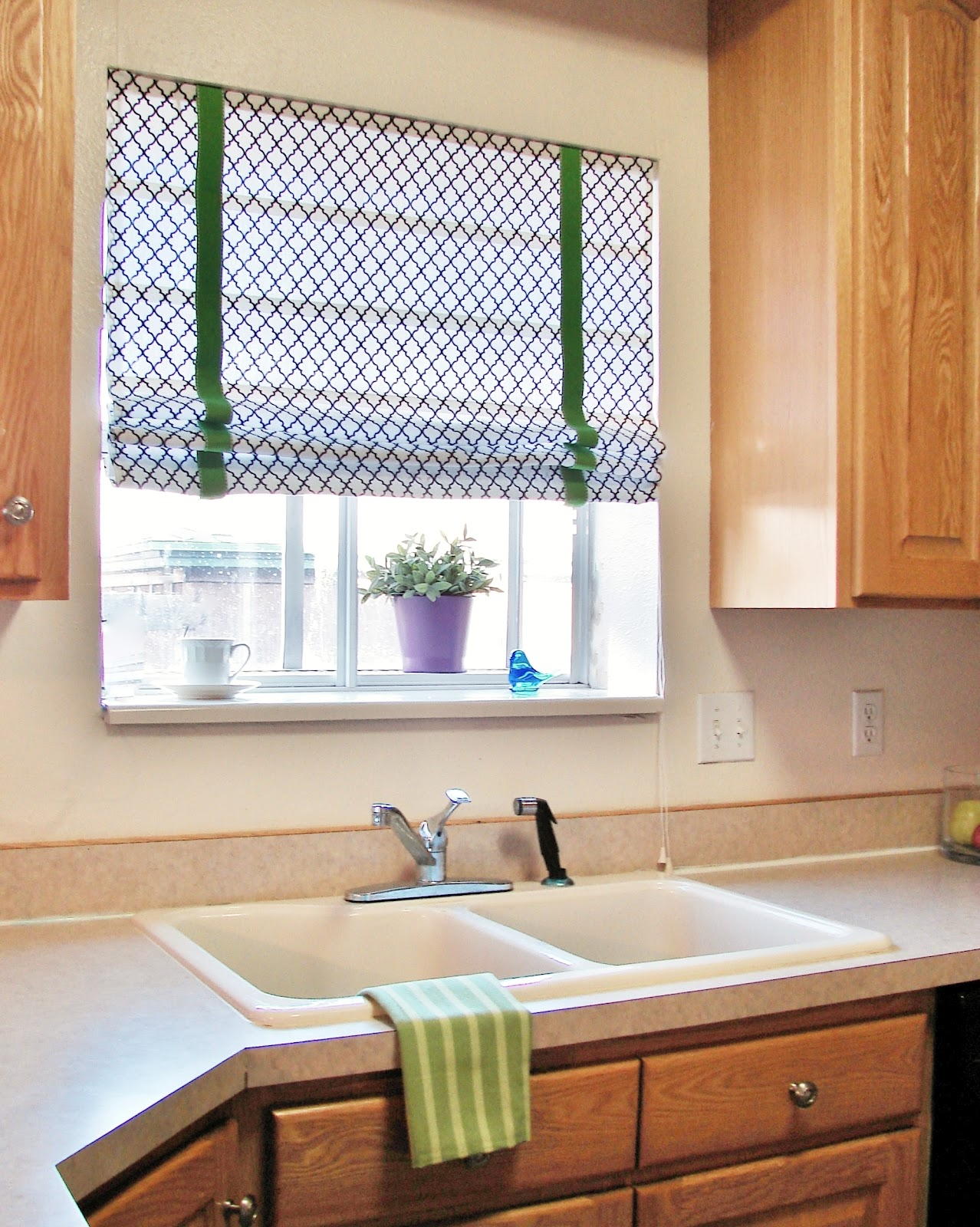 Hearth & Holm: No Sew Roman Shades Using Blinds