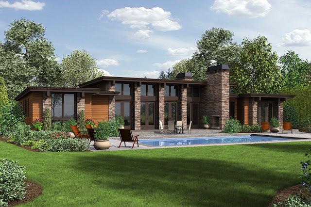 مخططات منازل حديثة مودرن Modern Style House Plan