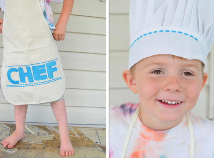 KIDS CRAFT Chef Aprons and Chef Hats