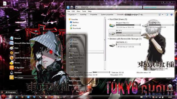 Tokyo Ghoul ( Theme Win  7) 2