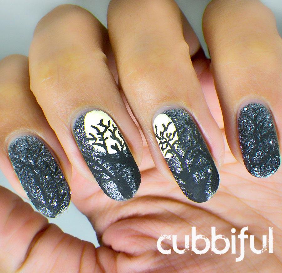 Eerie Full Moon Nails