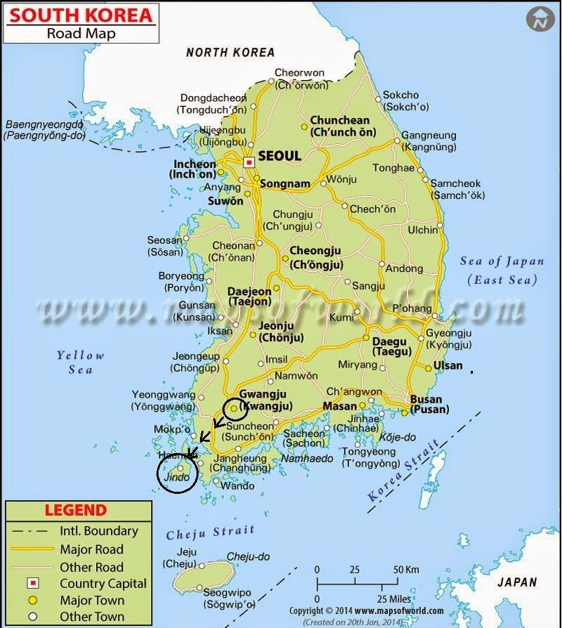Jindo Island Map