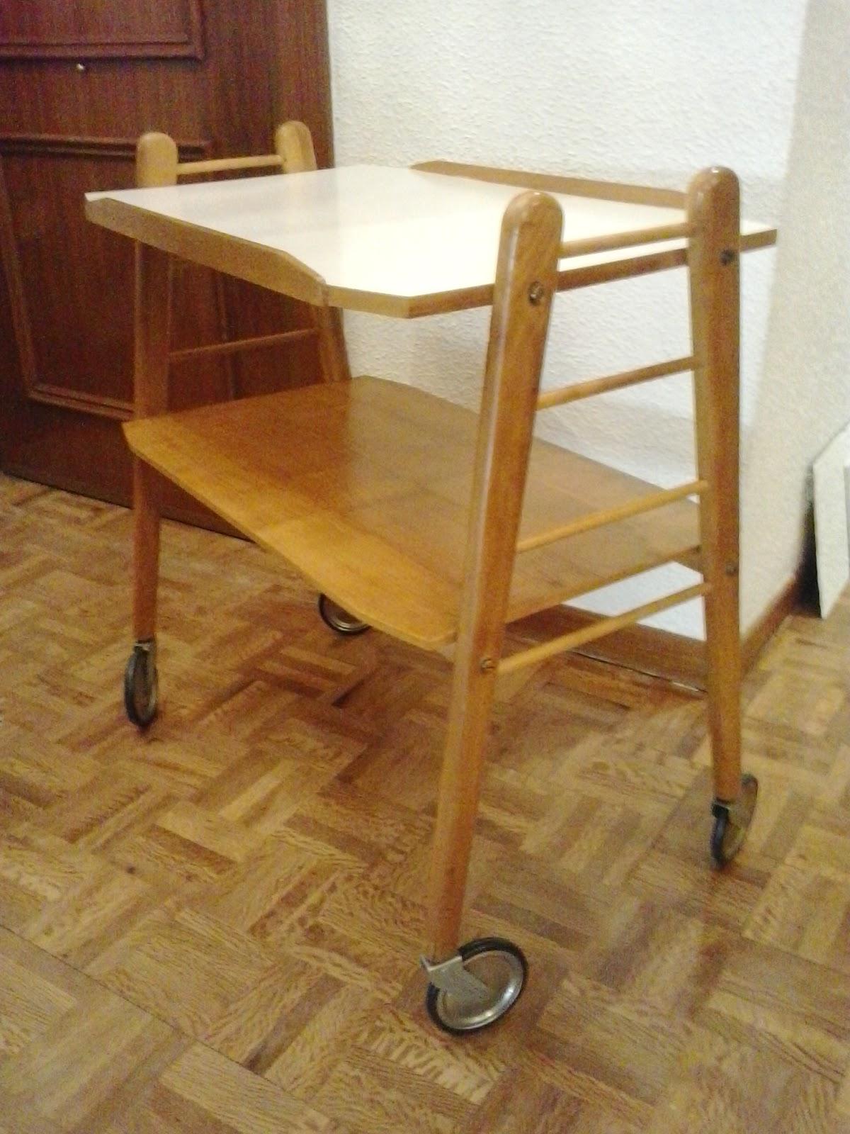 Area vintage dise o mesa auxiliar con ruedas camarera - Mesa auxiliar con ruedas ...