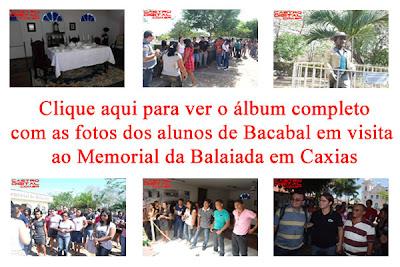 Fotos dos alunos de Bacabal em visita ao Memorial da balaiada em Caxias