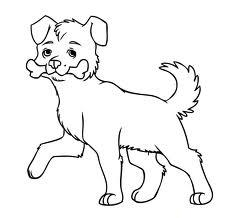 Dog Outline Line Drawing Painting Kindergarten Worksheet Guide