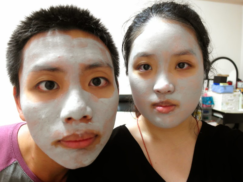 how to spend time with your NS boyfriend innisfree clay mask skincare time together lunarrive singapore