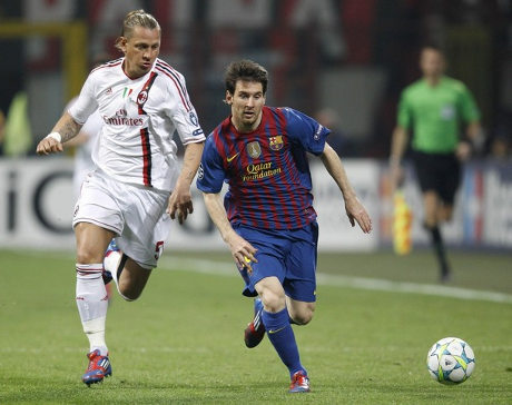 Video AC MiLan vs Barcelona 0-0 Liga Champion 29 Maret 2012