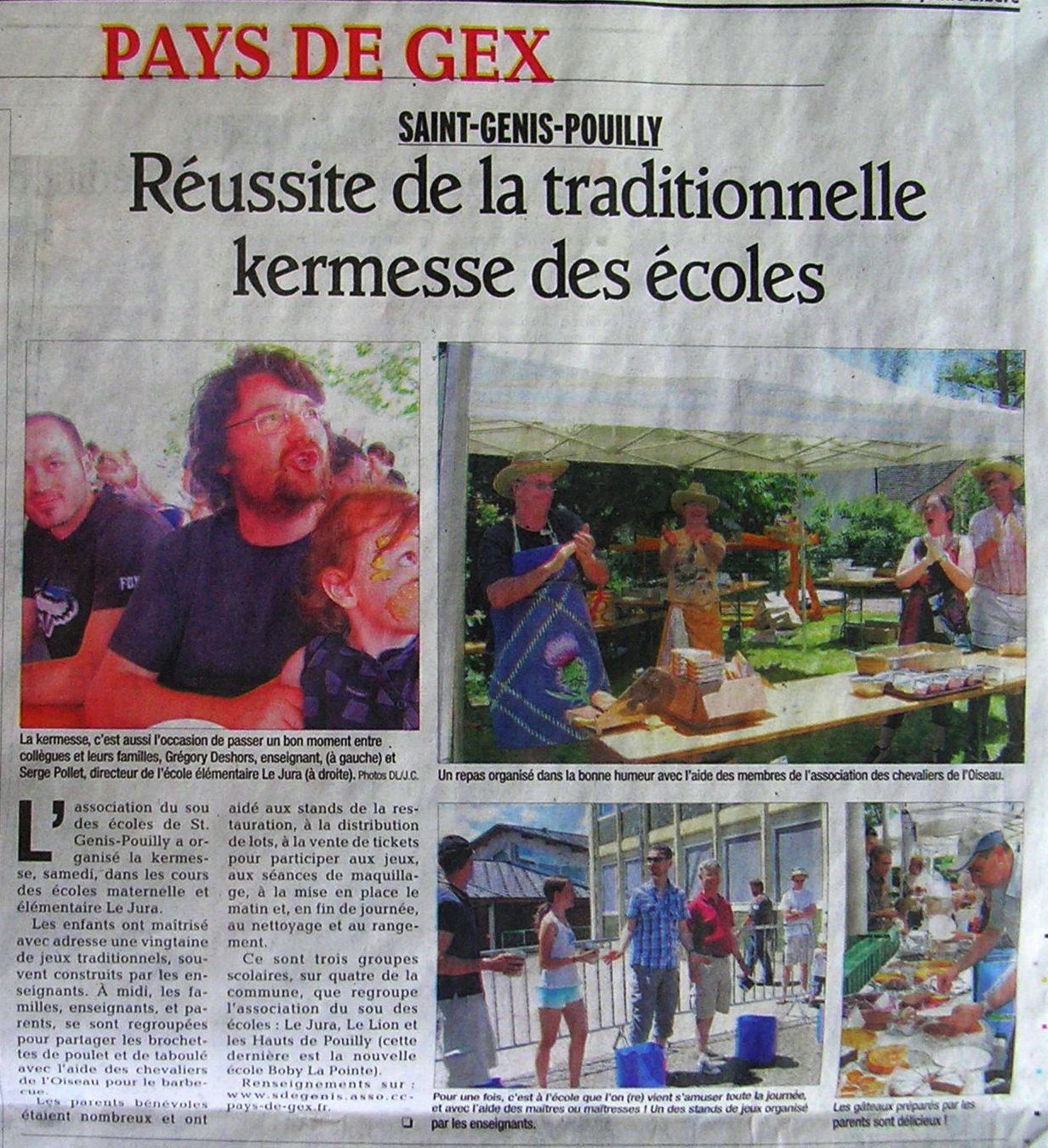 Parents d l gu s du groupe scolaire le jura 151 rue - Office du tourisme saint genis pouilly ...