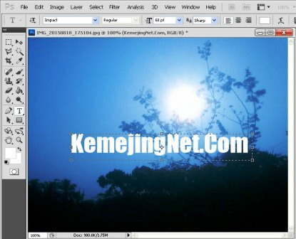 Cara Membuat Efek Tulisan Transparan Dengan Photoshop