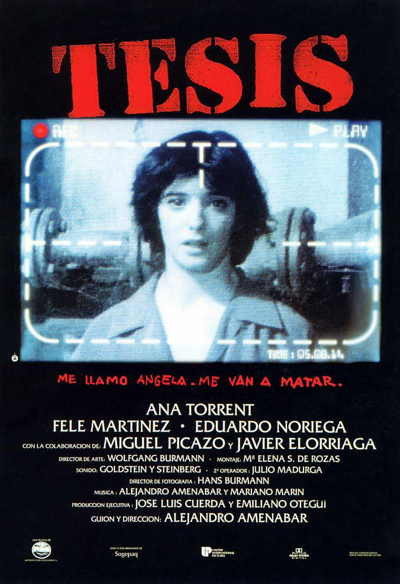 tesis tesis thesis is a 1996 spanish film it is the feature debut of ...